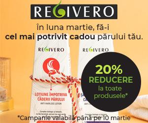 Regivero - Regivero ofera 20% Reducere pana in 10 martie