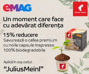eMAG - 15% reducere la cafea Julius Meinl