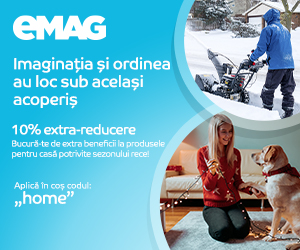 eMAG - Voucher 10% extra Home& deco noutati, ongoing 2021