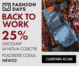 – 25% reducere la noile colectii pentru barbati *FashionDays