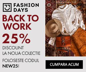 25% discount pentru noile colectii pentru femei