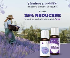 Vegis - Până la 25% REDUCERE la toată gama de uleiuri esențiale Life!